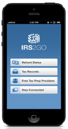 You can check the status of your federal income tax refund using IRS2Go.